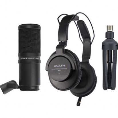Набор Zoom ZDM-1 Podcast Mic Pack with Headphones, Windscreen, XLR, and Tabletop Stand