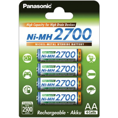 Аккумуляторы Panasonic AA 2700mAh 4BP(BK-3HGAE/4BE) 4шт