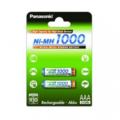Аккумуляторы Panasonic AAА 1000mAh 2BP(BK-4HGAE/2BE) 2шт