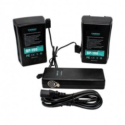 Двойное зарядное устройство на 2 батареи LBC-2C для батарей V-mount