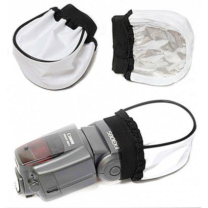 Универсальный рассеиватель для накамерных вспышек типа Носок